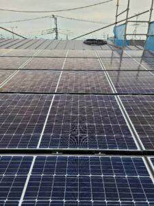 【埼玉県三郷市】Y様邸注文住宅新築工事は太陽光パネルを取り付けました。