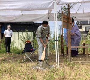 【埼玉県越谷市】S様邸新築工事は地鎮祭を行いました。