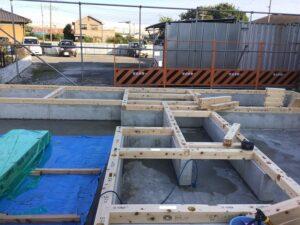 【埼玉県三郷市】K様邸注文住宅新築工事は木工事土台引きを行っています。