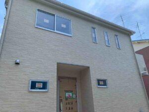 【埼玉県三郷市】K様邸注文住宅新築工事は足場が解体され外壁が分かるようになりました。
