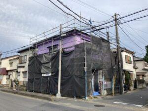 【埼玉県三郷市】台風が近づいておりますので台風養生をしました。