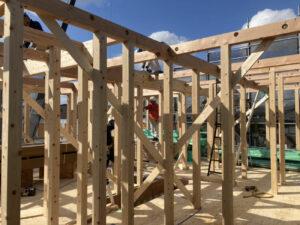 【東京都足立区】S様邸注文住宅新築工事は上棟いたしました。
