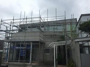 三郷市I様クリニック外壁塗装工事 (2)