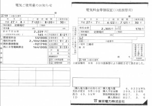 【埼玉県三郷市】Y様ガソリンスタンド売電伝票