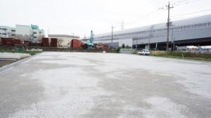 駐車場整地施工後
