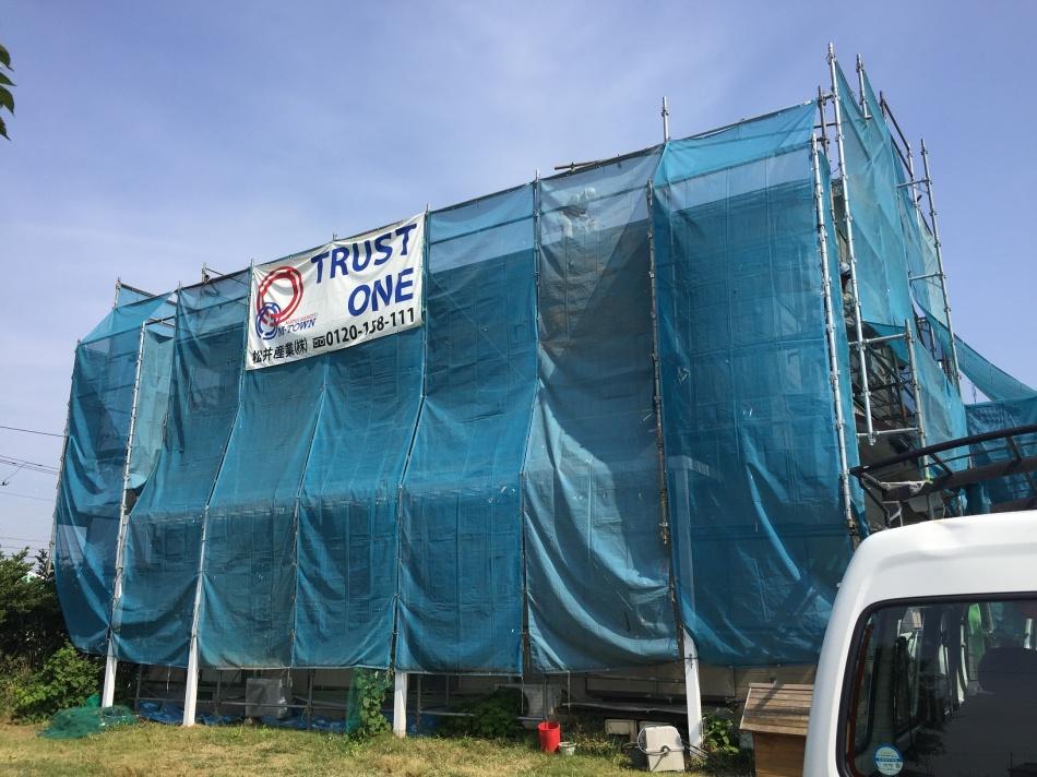本店-ブログ 三郷市Y様邸外装工事が始まりました。。埼玉県 ...